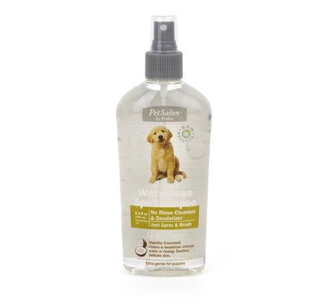 coconut for puppies petkin waterless spa shoo vanilla coconut for puppies 250 ml dogspot
