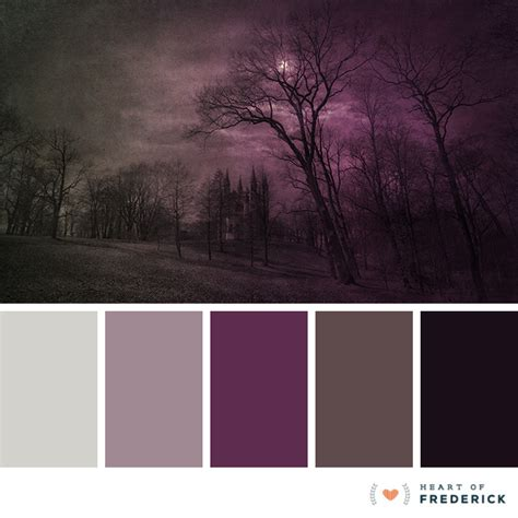january 2017 color palette spooky halloween inspired hues color palette