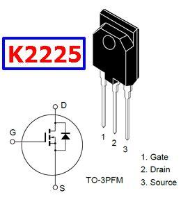 transistor k2225 datasheet k2225 datasheet n ch mosfet vdss 1500v hitachi