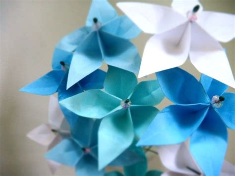 Custom Origami Paper - crafted breezy blue whimsical origami paper