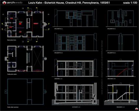 sections margaret esherick house 204 sunrise lane esherick house autocad dwg project pinterest