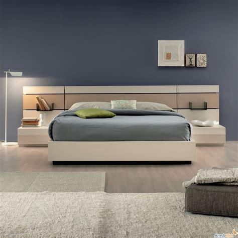 letto con comodini integrati 2x1 in letto con comodini integrati arredaclick