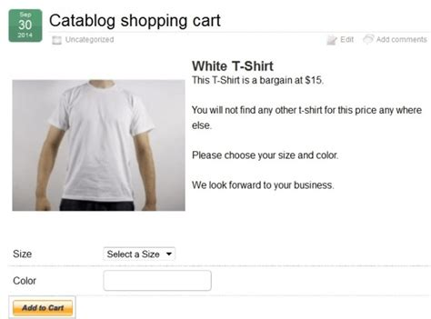 shopping cart template catablog shopping cart template