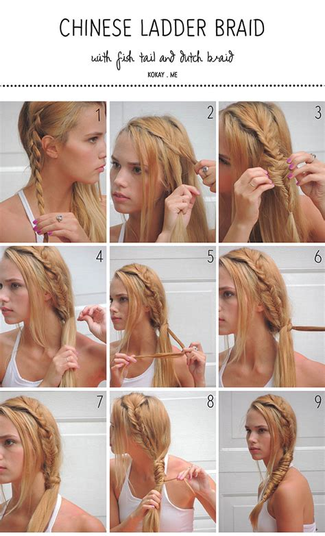 how to do a ladder braid step by step step by step waterfall braid on yourself