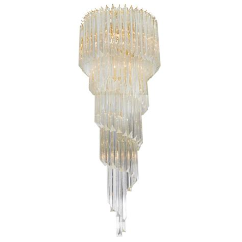 Cascading Chandelier Cascading Chandelier With Prisms For Sale At 1stdibs