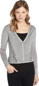 Accent Original Cardigan For nanette lepore navy wool patio lace accent sleeve cardigan where to buy how to wear