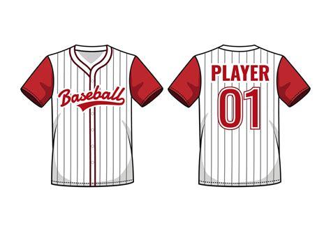 pinstripe baseball jersey mockup   vectors