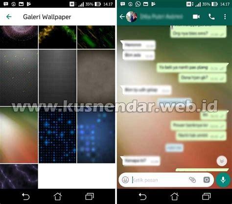 mengganti background  wallpaper chat whatsapp