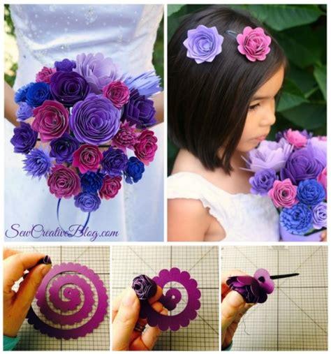 paper flower bridal bouquet tutorial wedding ideas diy paper bridal bouquet and flower girl