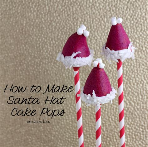 How To Make A Santa Hat Out Of Paper - how to make santa hat cake pops
