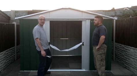 yardmaster ft  ft shed opening youtube