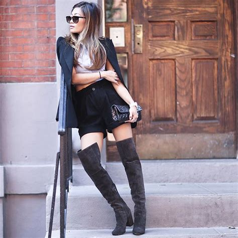 how to wear the knee boots how to wear the knee boots in fall just the design
