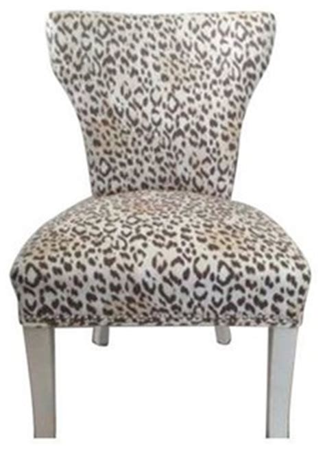leopard print upholstered chairs set of 4 modern