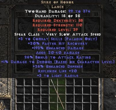 unique weapons europe ladder diablo 2