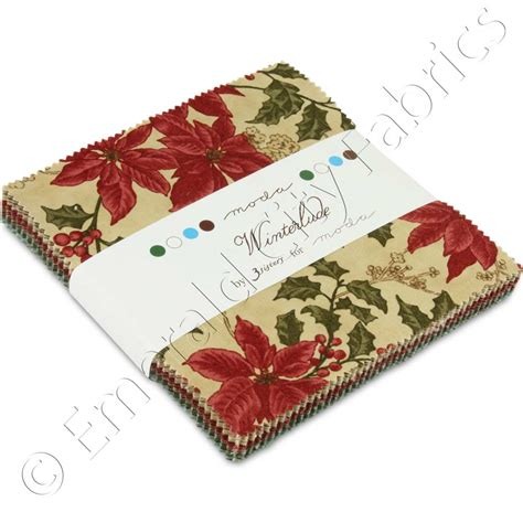 Quilting Fabric Charm Packs by Moda 3 Winterlude Charm Pack Emerald City Fabrics