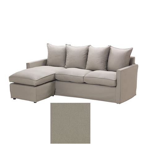 chaise slipcovers ikea harnosand 2 seat loveseat sofa with chaise slipcover
