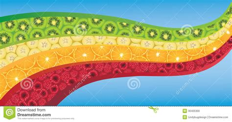 vegetables z wave curved wave shape filled with fresh colorful fruits stock