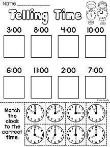 best 25 telling time activities ideas on pinterest math
