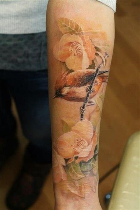 tattoo flower with birds 15 no line flower tattoos you must love pretty designs