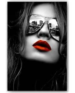 Fashion Wall Murals tableau d 233 co femme de profil photo en noir et blanc sur