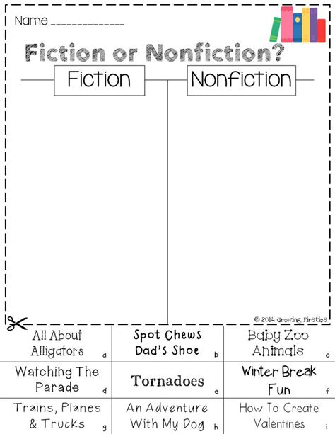 Nonfiction Worksheets by Best 25 Fiction Vs Nonfiction Ideas On