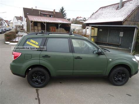 subaru off road car 2012 subaru forester 2 0x militray green special model