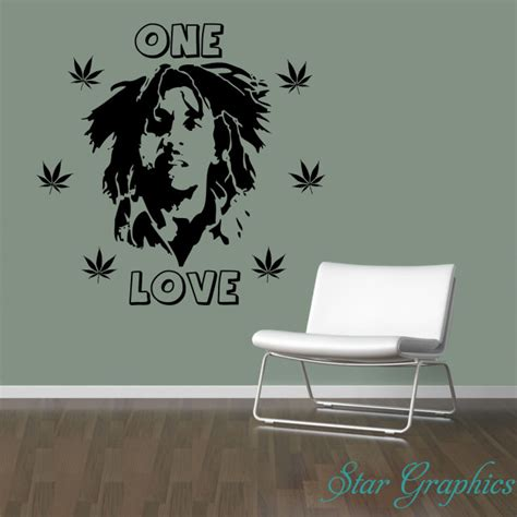 bob marley home decor star graphix