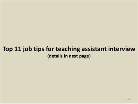top 36 teaching assistant questions and answers