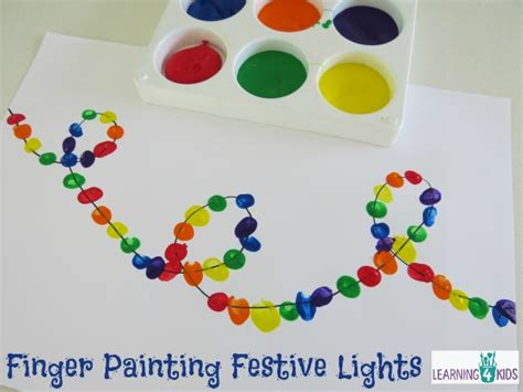finger painting for toddlers finger painting festive lights learning 4