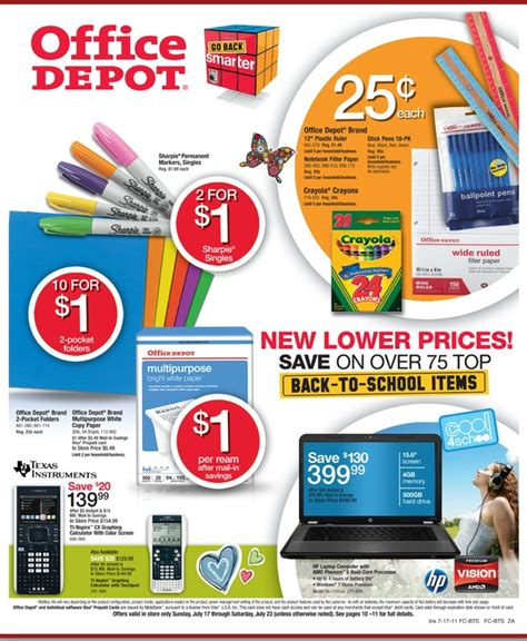 Office Depot Price Match Back To School Deals Office Depot Ad 7 17 7 23 My