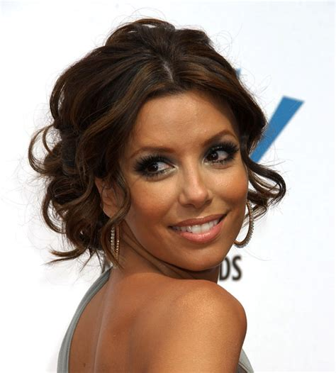 eva longoria sext french twist updo with side swept bangs the beauty blog