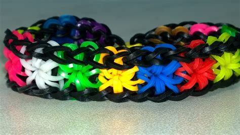 rainbow loom starburst bracelet with two forks easy