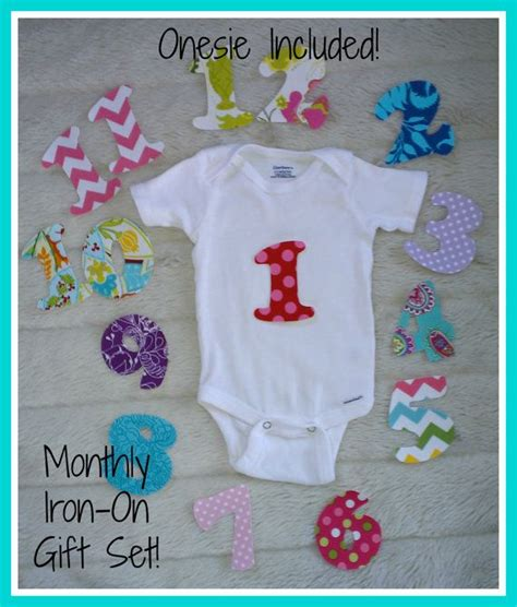printable iron on monthly onesies onesie included monthly iron on numbers for baby onesies