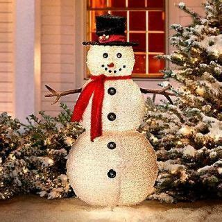 outdoor lighted snowman decorations 1000 images about yard to sell on
