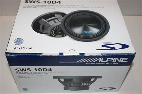stereowise  alpine type  sws    subwoofer