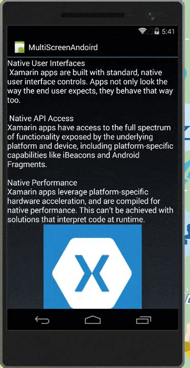 xamarin android multiple layout xamarin android create android app supporting multiple