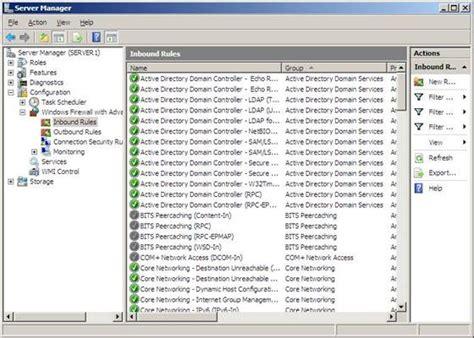 firewall  enabled  configured  windows server