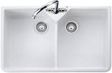 double ceramic kitchen sink rangemaster double bowl cdb800wh ceramic kitchen sink