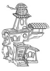 haunted house coloring free printable coloring pages