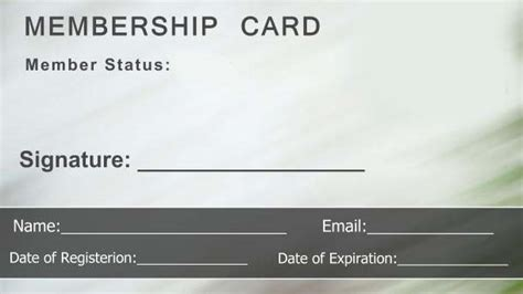 Blank Membership Card Template by Free Membership Card Template Emetonlineblog
