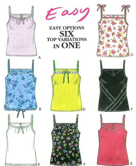 sewing pattern tank top easy tank top sewing pattern spaghetti strap camisole 6873