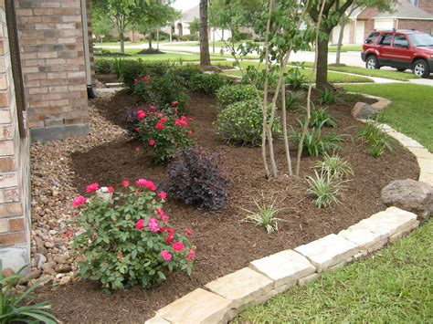 backyard houston texas flower bed landscaping backyard ideas houston loversiq