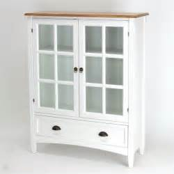 1 shelf barrister bookcase with glass door in white 9122w