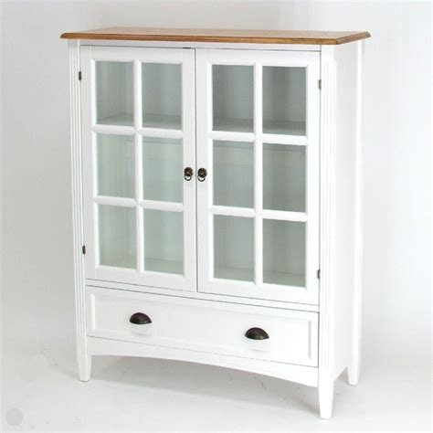 Bookcase Cabinets With Doors 1 Shelf Barrister Bookcase With Glass Door In White 9122w