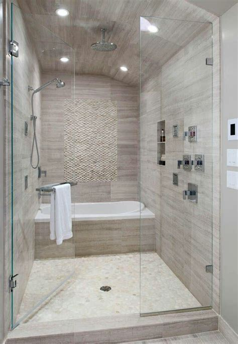 walk in shower with tub inside