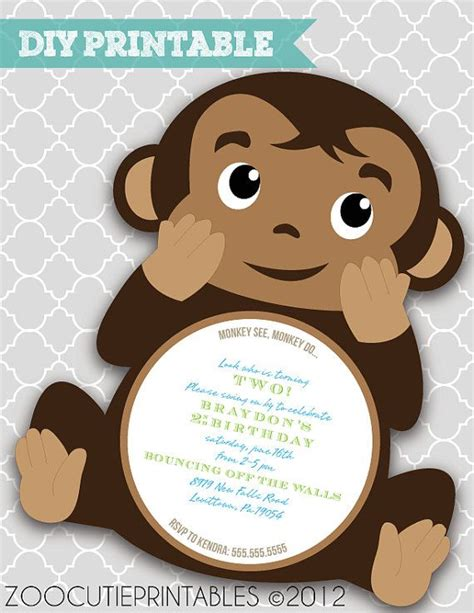 monkey baby shower invitations printable 342 best images about exceptional birthday cards invitations on birthday