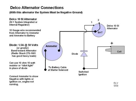 wiring diagram for 1 wire delco alternator readingrat in
