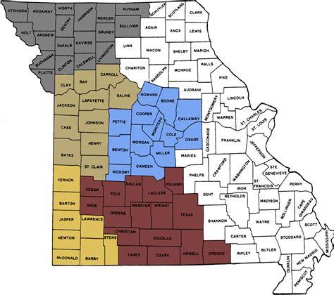 map of southern missouri southern missouri map my