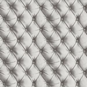 grey quilted wallpaper 3d effect quilted leather wall button detail wallpaper