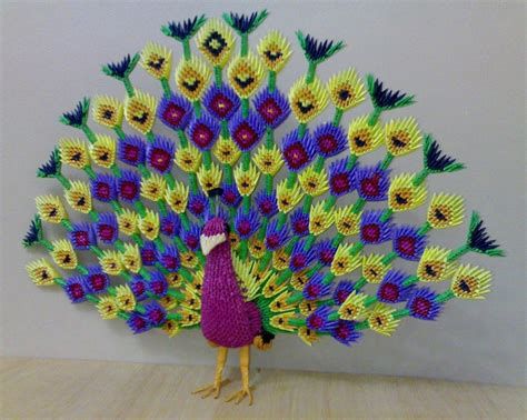 3d Origami Peacock - how to make a 3d origami peacock 28 images peacock